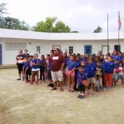 イナラハン小学校のみなさんが到着しました。