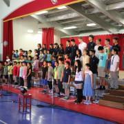 全校合唱「花は咲く」